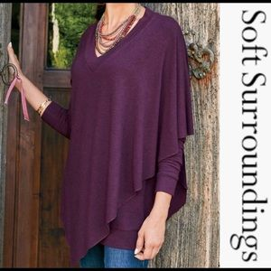 Soft Surroundings Purple Small Sweater Top
